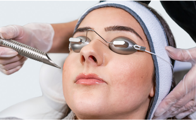 woman under juliet skin resurfacing laser